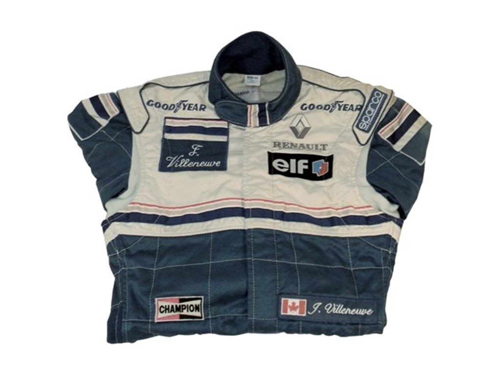 Lot 130 - Jaques Villeneuve race suit