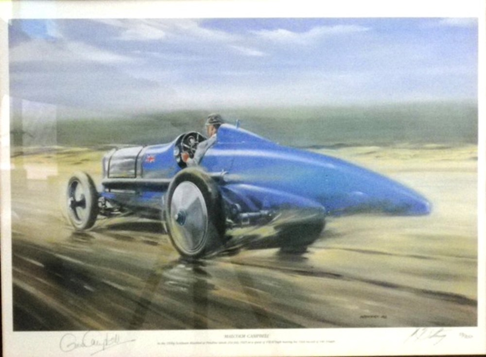 Lot 62 - Limited edition land speed record prints.