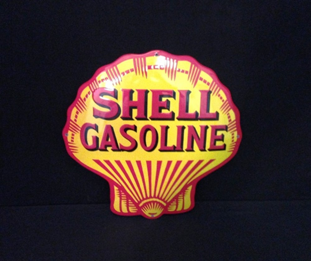 Lot 201 -   Shell enamel sign