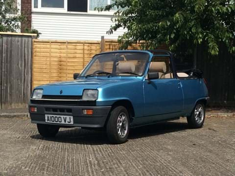 Ref 88 1983 Renault 5TX Cleveland Convertible