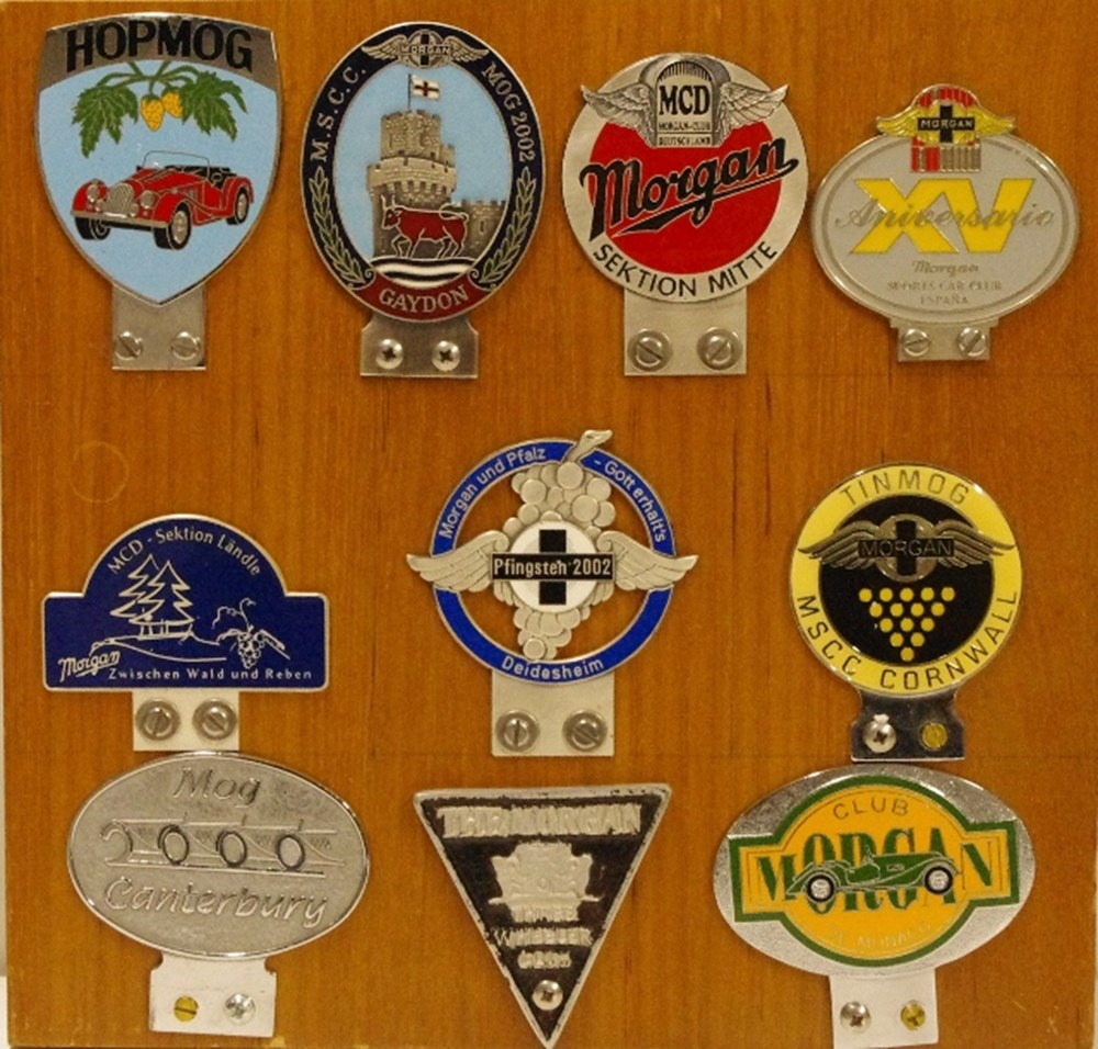 Lot 42. - Morgan club badges.
