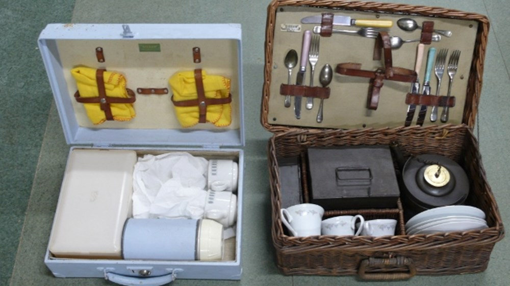 Lot 16 - Two picnic sets.