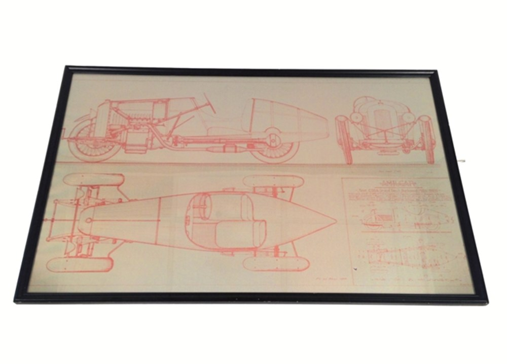 Lot 015 - CGSS Grand Sport Surbaisse glazed line drawing