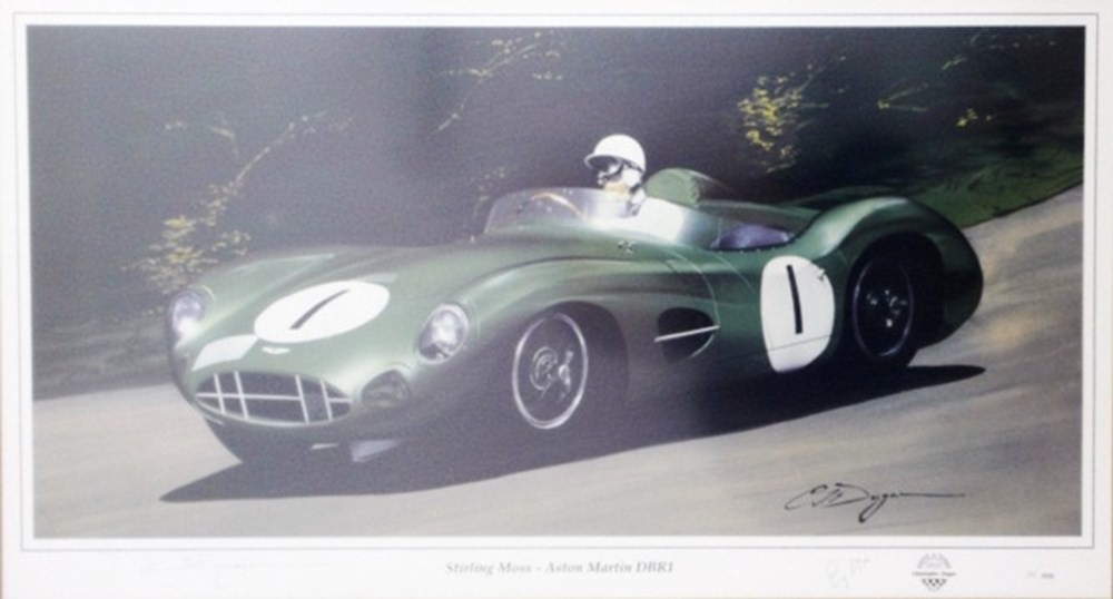 Lot 73 - A signed Stirling Moss print.