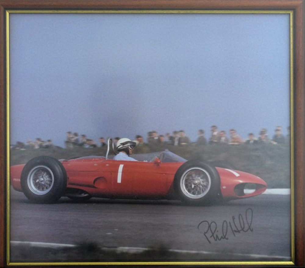 Lot 18 - A signed Phil hill print