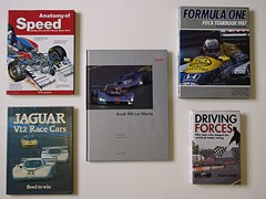 Navigate to Five signed motor-sport books