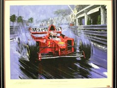Navigate to Michael Schumacher print.