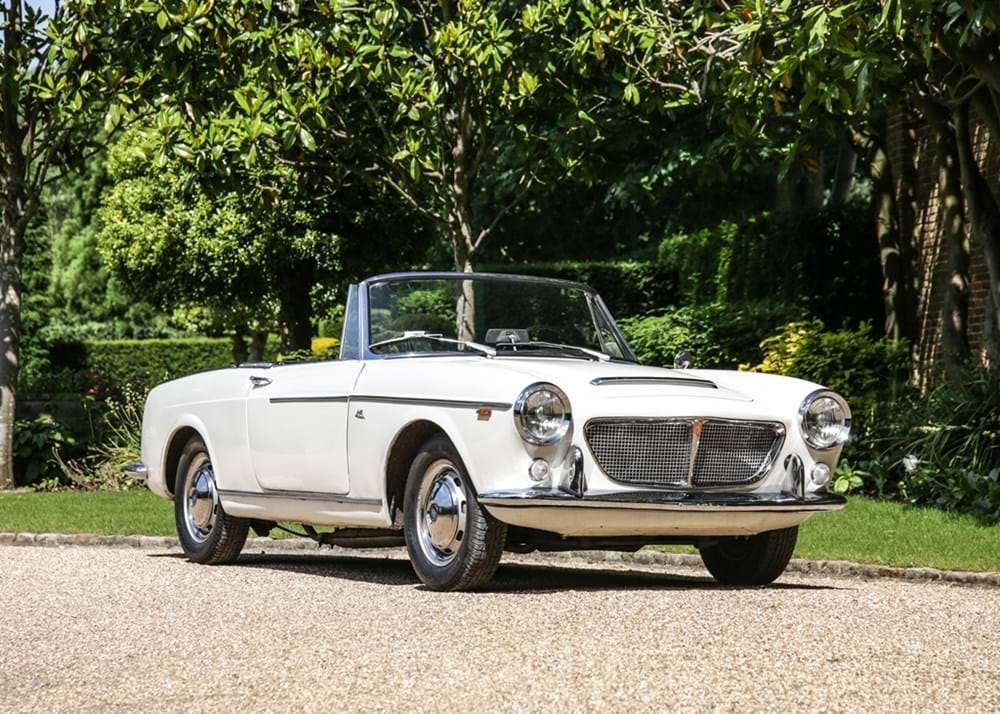 Lot 165 - 1962 Fiat 1200 Cabriolet by Pininfarina