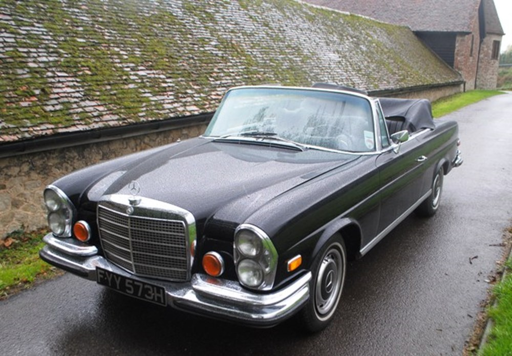 Lot 305 - 1970 Mercedes-Benz 280SE (3.5 litre, V8) Cabriolet