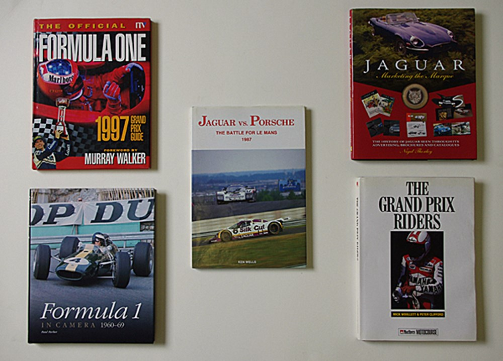 Lot 109 - Signed motor-sport books