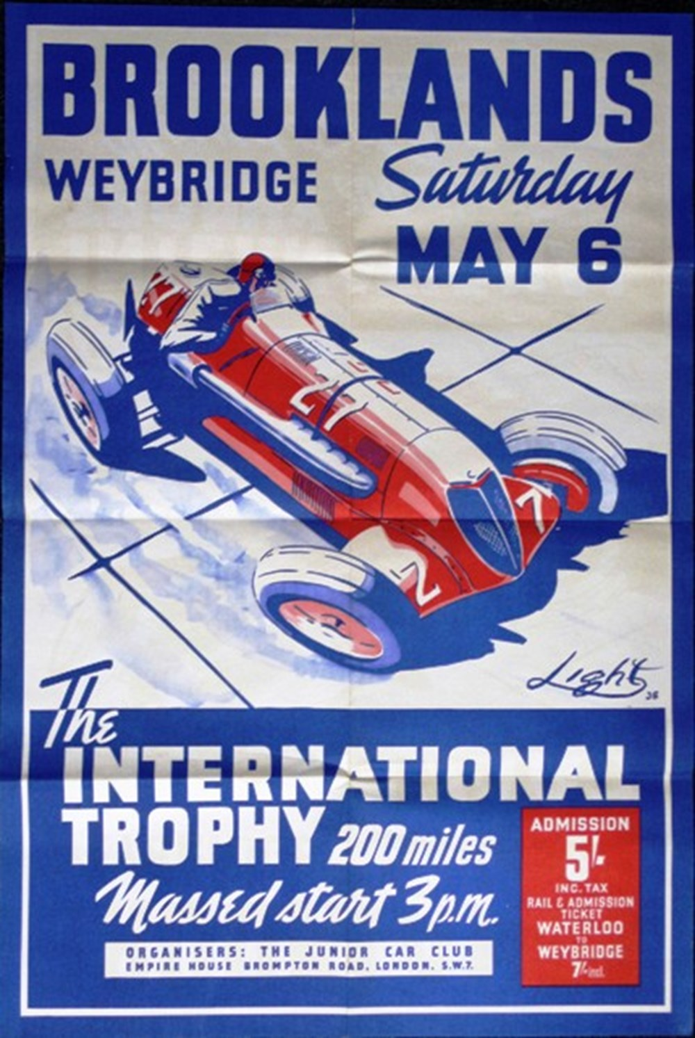 Lot 51 - Brooklands race posters.