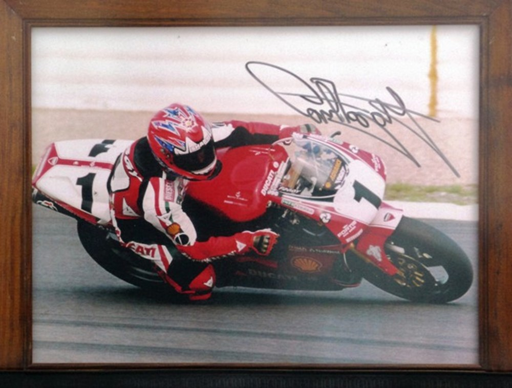 Lot 57 - A signed Carl Fogarty print and model.
