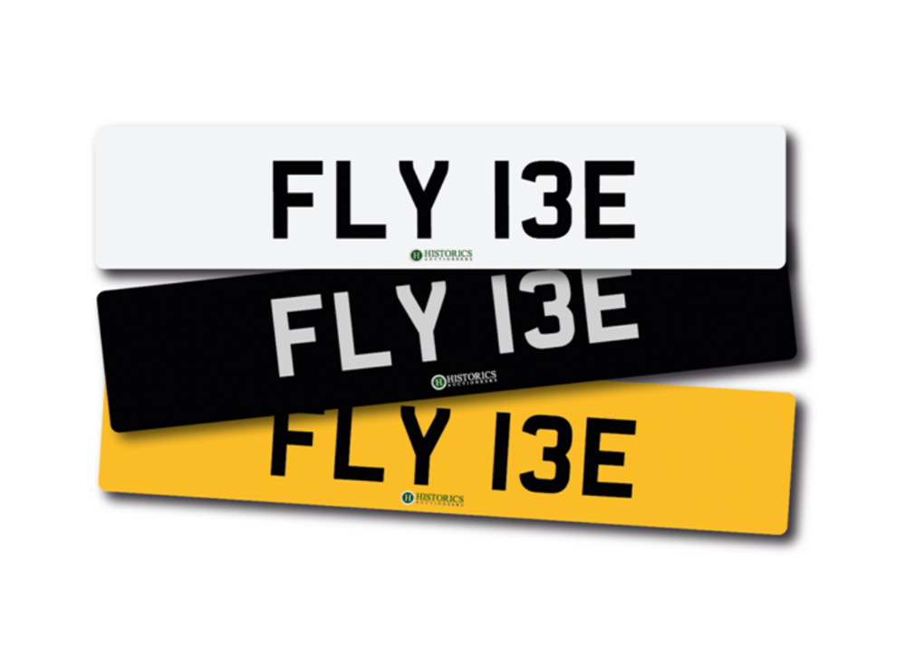 Lot 229 -   Number Plate FLY 13E