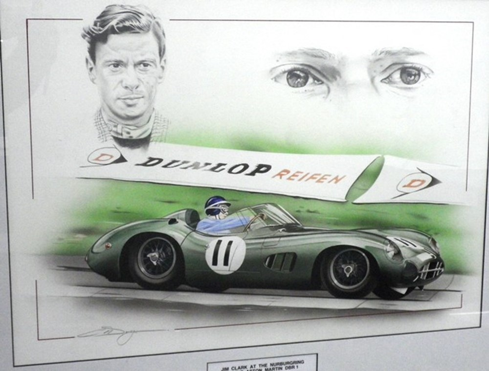 Lot 132 - Jim Clark and the DBR1.
