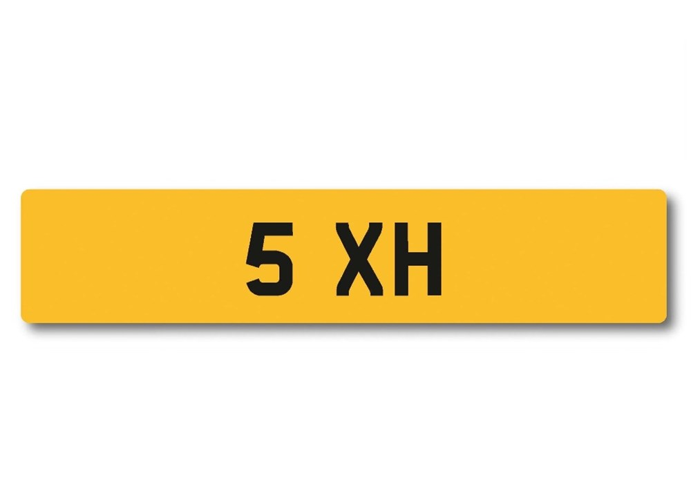 Lot 102 -   Number Plate 5 XH