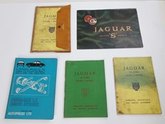 Navigate to A small selection of Jaguar handbooks ...