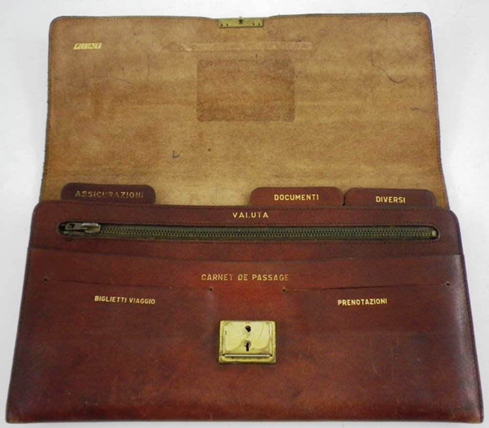 Lot 094 - Fiat Leather Document Case and other items