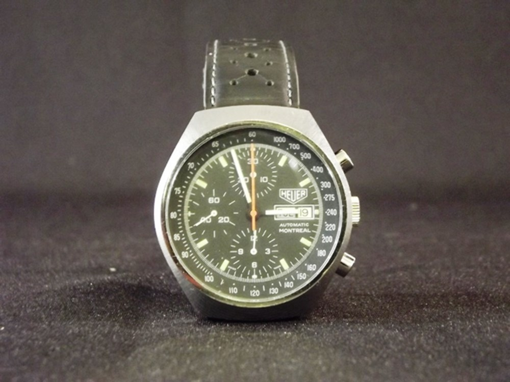 Lot 074 - 1970s Tag Heuer Montreal chronograph