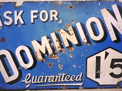 Navigate to Dominion enamel sign