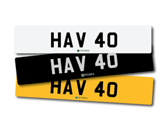 Navigate to Lot 124 -   Number plate HAV 40