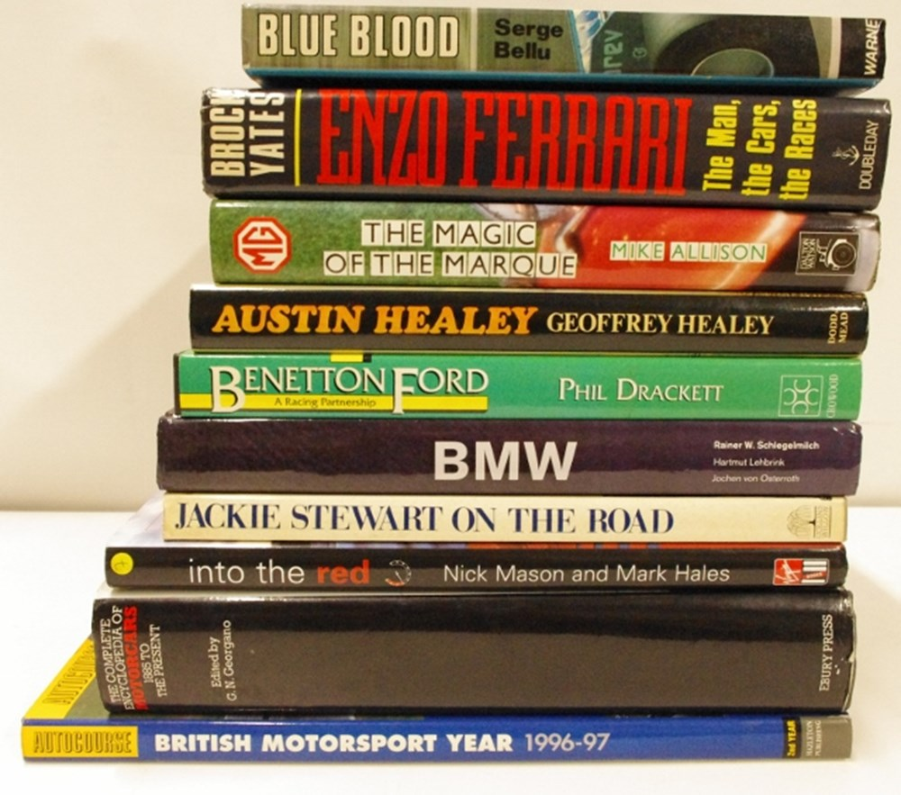Lot 22. - ten motoring books.