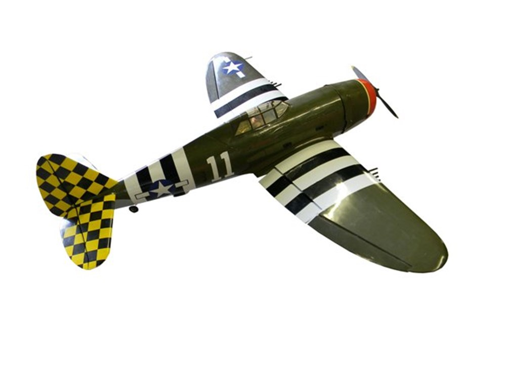 Lot 142 - WWII Mustang fighter plane model