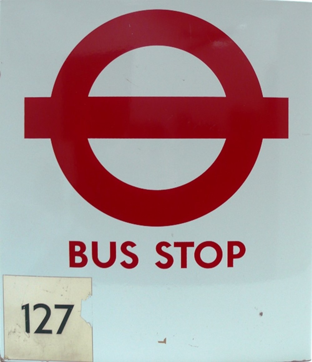 Lot 003 - London Transport bus stop sign
