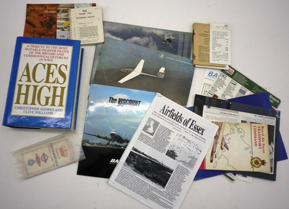 Lot 72 - Aviation books, brochures and related mate