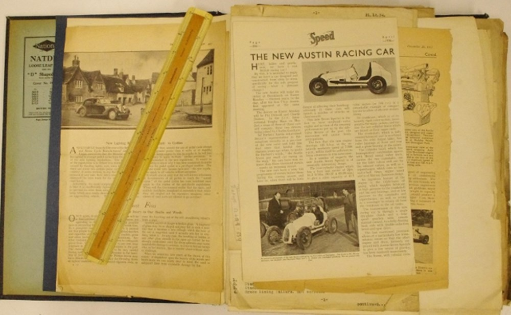Lot 75. - Austin Seven racing archive.