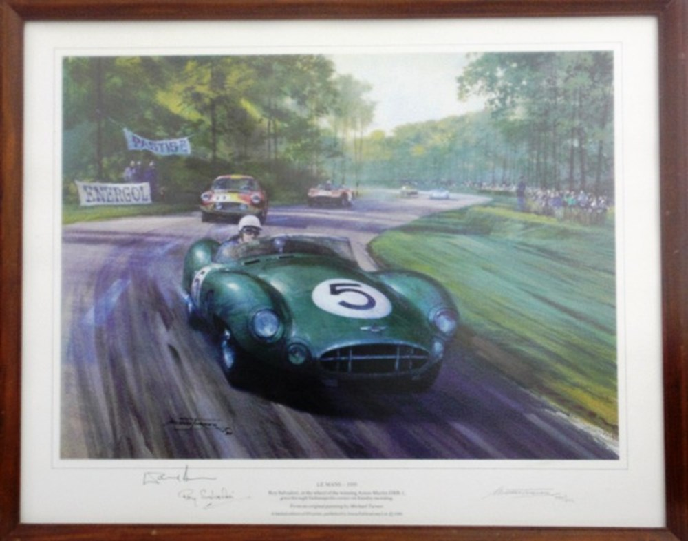 Lot 87 - A signed Roy Salvadori print.