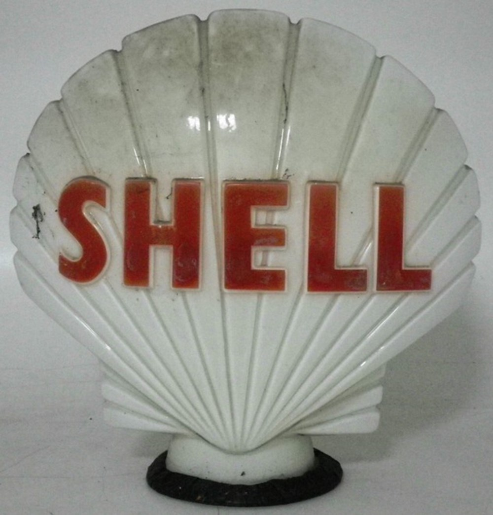 Lot 75 - A shell petrol globe.