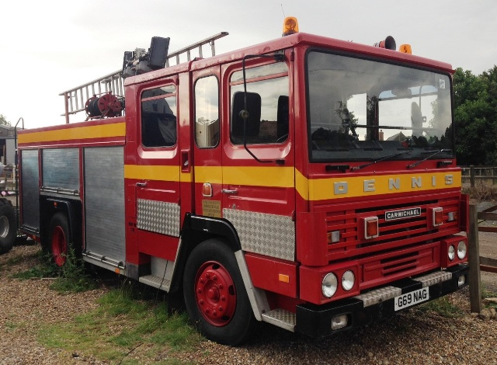 Lot 349 - 1989 Dennis Carmichael Fire Engine