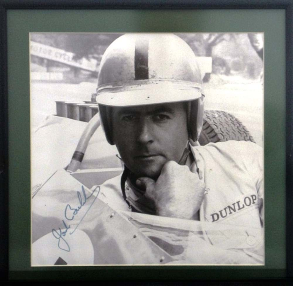Lot 54 - A signed Jack Brabham print.