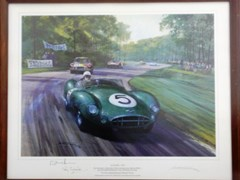 Navigate to A signed Roy Salvadori print.