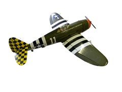 Navigate to WWII Mustang fighter plane model