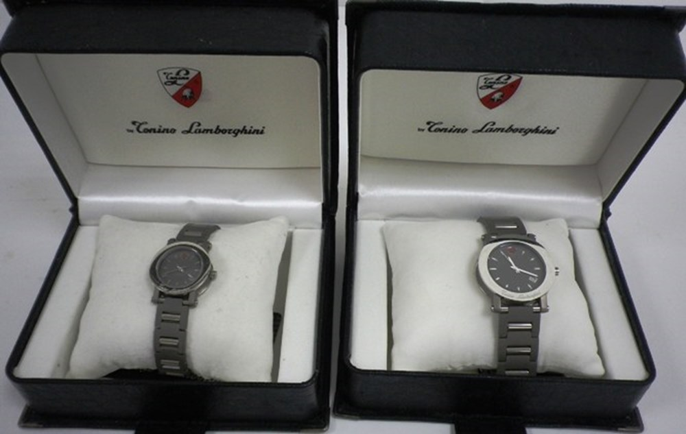 Lot 054 - A pair of Lamborghini watches