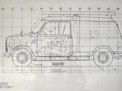 Navigate to 1960s Austin Engineers van limited edition line drawing prints