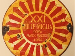 Navigate to Mille Miglia enamel sign.