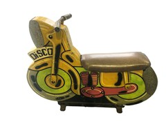 Navigate to A good fairground child's ride-on motorcycle