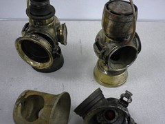 Navigate to Early Lucas brass oil side lamps