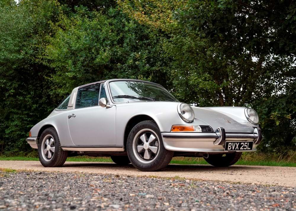 ref 3 1973 porsche 911 targa - classic & sports car auctioneers