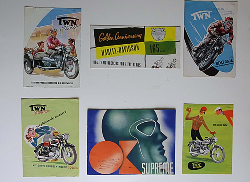 Lot 035 - Four Motorcycle brochures