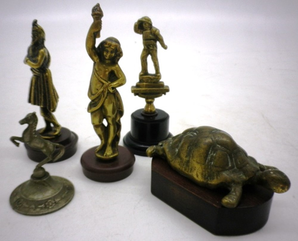 Lot 046 - Five Brass Mascots