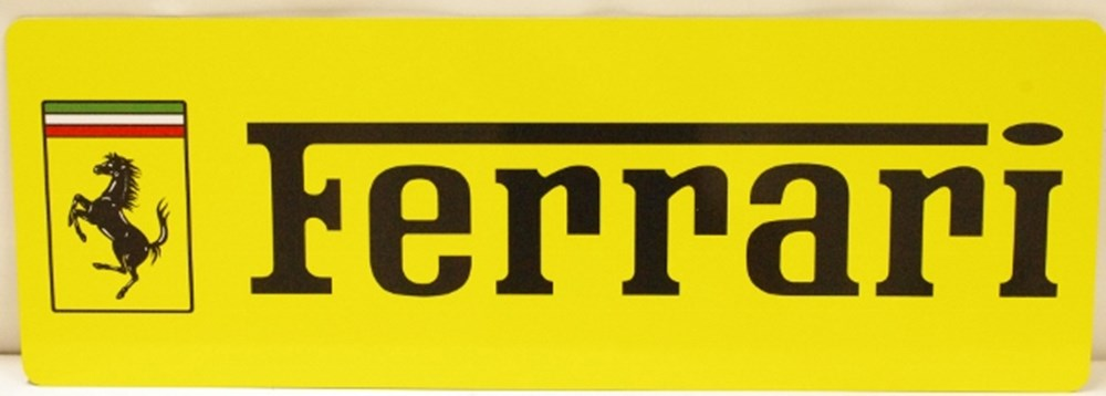 Lot 29. - Ferrari sign.