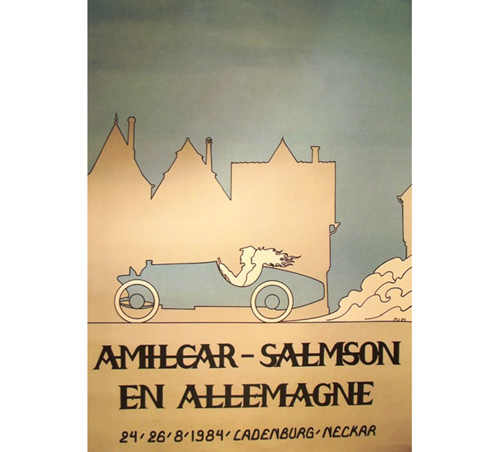 Lot 008 - Five Amilcar-Salmson posters