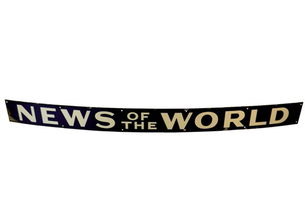 Lot 030 - large enamel sign 'News of the World'