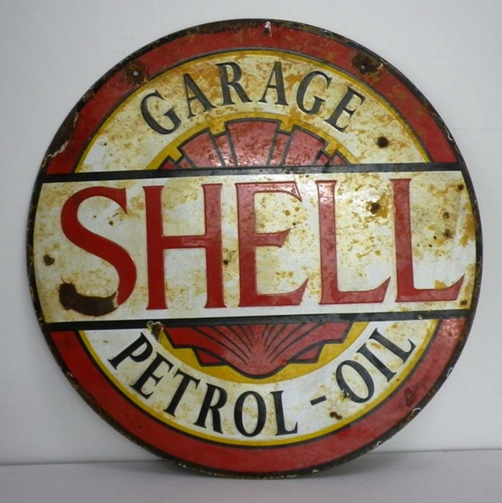 Lot 19 - Shell petrol-oil