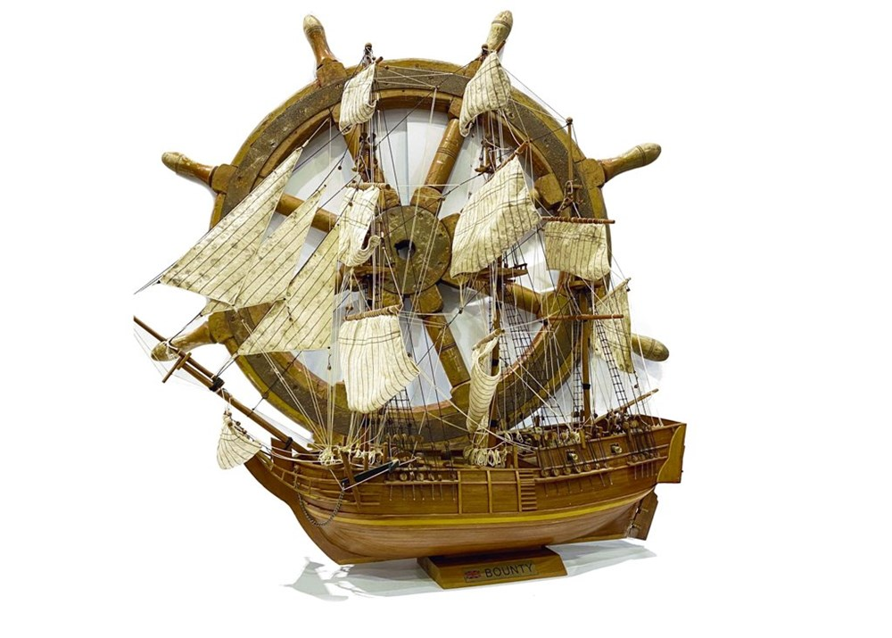 Lot 94 - A wood model of the galleon Bounty