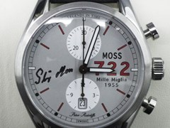 Navigate to Moss 722 chronograph wristwatch (Signed by Stirling Moss)