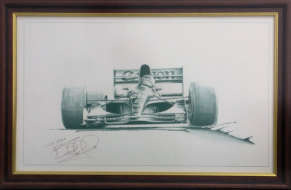 Lot 19 - Nigel Mansell signed print